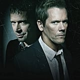 James Purefoy as Joe Carroll and Kevin Bacon as Ryan Hardy in The Following.
