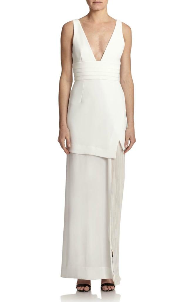 Nicholas Asymmetrical Layered Crepe Gown ($750)