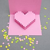 Pixel Pop-Up Heart Valentine's Printable