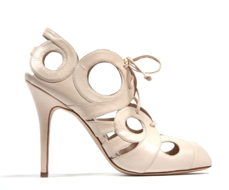 Monique Lhuillier Nude Kid Pump ($895)