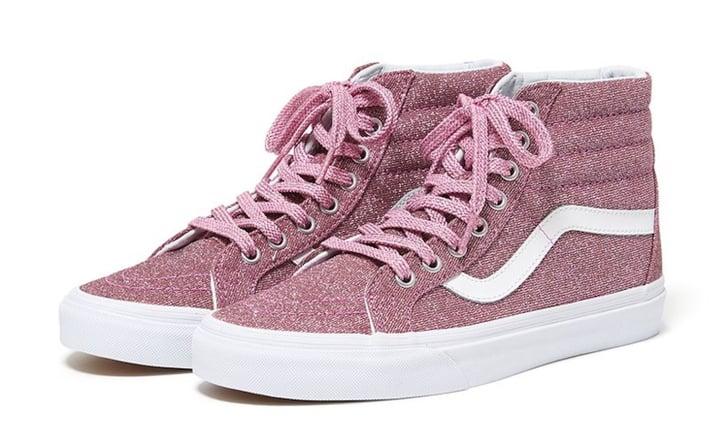 Pink Glitter Vans Sneakers | POPSUGAR