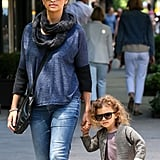 Vida McConaughey took her mom, Camila Alves, jewelry shopping in NYC.