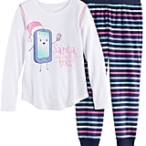 SO Girls 4-14 SO® Holiday Handkerchief Hem Tunic & Thermal Fleece Leggings Set