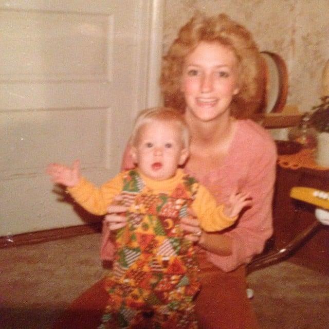 January Jones was a baby when this adorable photo with her mom, Karen, was taken. Source: Instagram user januaryjones