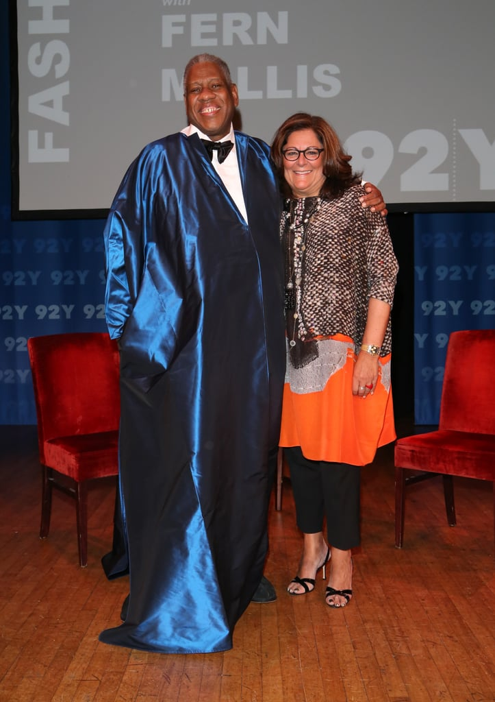 Andre Leon Talley stepped onstage with Fern Mallis for a conversation at the 92Y in New York.