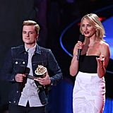 Josh Hutcherson ultimately took home the popcorn for that one.