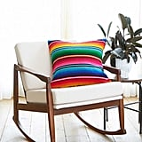 "20"" Striped Woven Pillow in Rainbow ($48)"