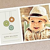 3 Ornaments Modern Photo Holiday Card ($16 For Digital File)