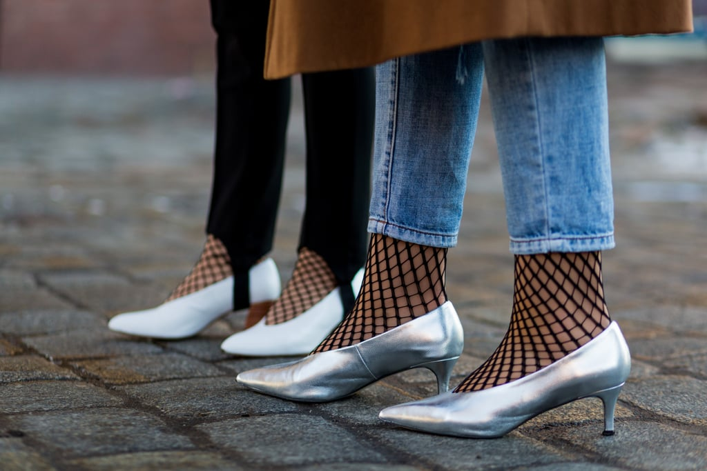 Wear Fishnet Socks or Stockings Under Your Lightweight Denim