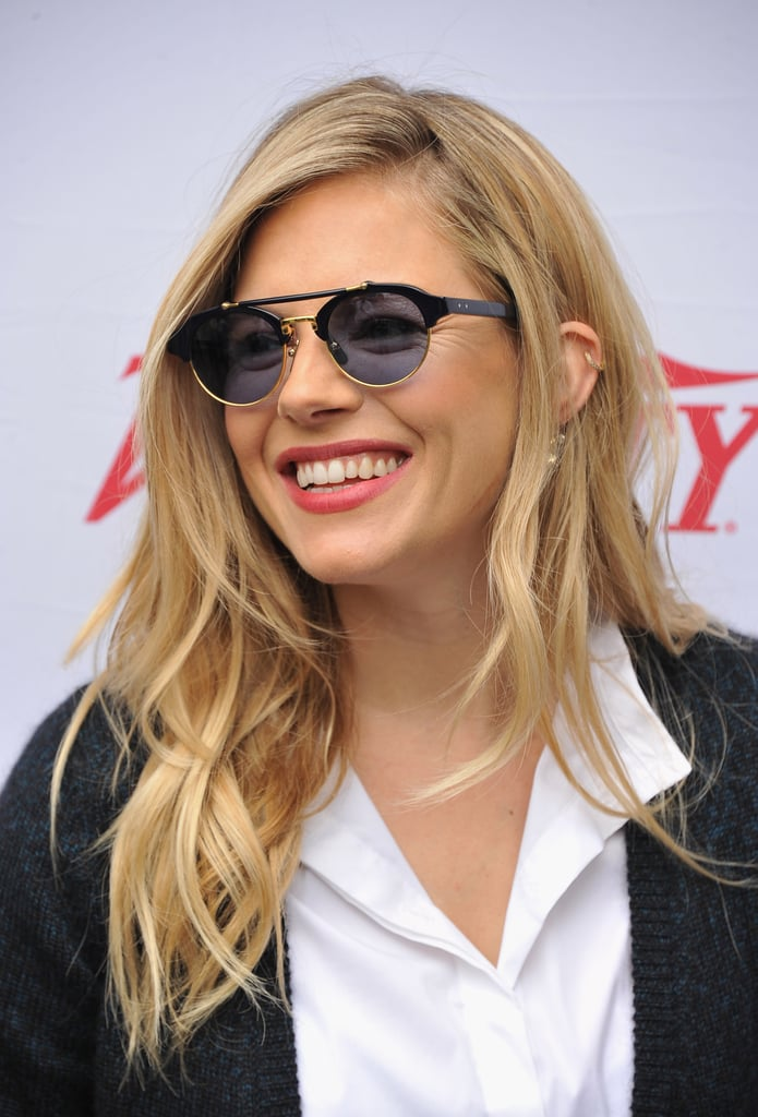 Sienna Miller smiled at the Hamptons International Film Festival Variety Performers brunch in East Hampton.