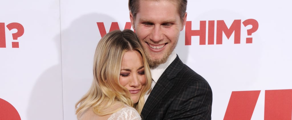 Kaley Cuoco and Her Boyfriend Have an Actual Cuddle Session on the Red Carpet
