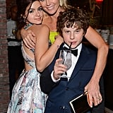 Modern Family's Ariel Winter, Julie Bowen, and Nolan Gould joked around after the show.
