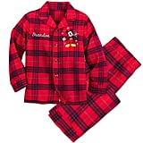 Mickey Mouse Holiday Plaid PJ Set