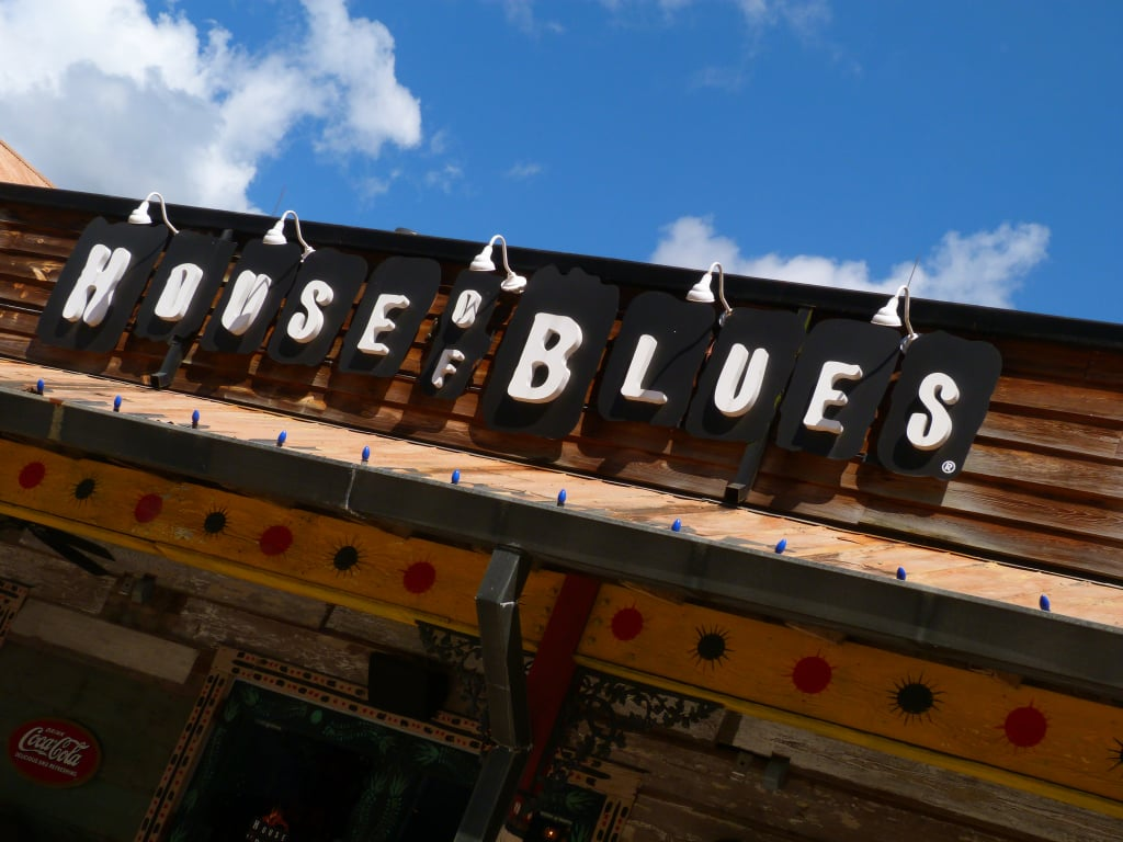 Eat at the House of Blues in Downtown Disney.
