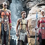 Nakia and the Dora Milaje From Black Panther