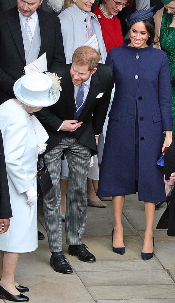 b66759af945 While attempting to hide her baby bump on Princess Eugenie s wedding ...