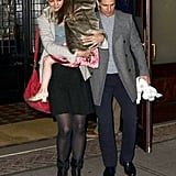 Suri wore a pair of heels to dinner with Tom and Katie.