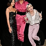 Naomi Scott, Ella Balinska, and Kristen Stewart at a Charlie's Angels Photocall