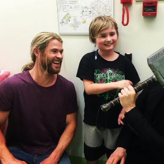 Chris Hemsworth and Tom Hiddleston Visit Children's Hospital