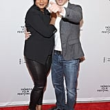 The Mindy Project costars Mindy Kaling and Chris Messina buddied up on the red carpet.