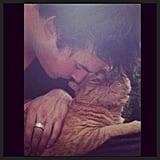 Ian Somerhalder snuggled with his cat. Source: Instagram user iansomerhalder