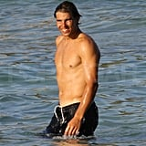 Shirtless Rafael Nadal in Majorca.
