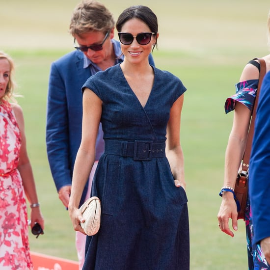 Meghan Markle Denim Carolina Herrera Dress