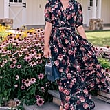 Gal Meets Glam Collection Ashlynn Floral Print Chiffon Maxi Dress