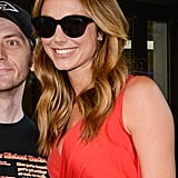 Meanwhile, Stacy Keibler stuck with the classics, sporting a black pair in New York City. Love the look? Try it yourself with a Stella McCartney pair ($225).