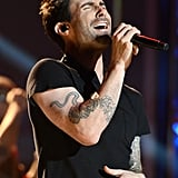 Adam Levine sang at the Grammy Nominations show in Nashville.
