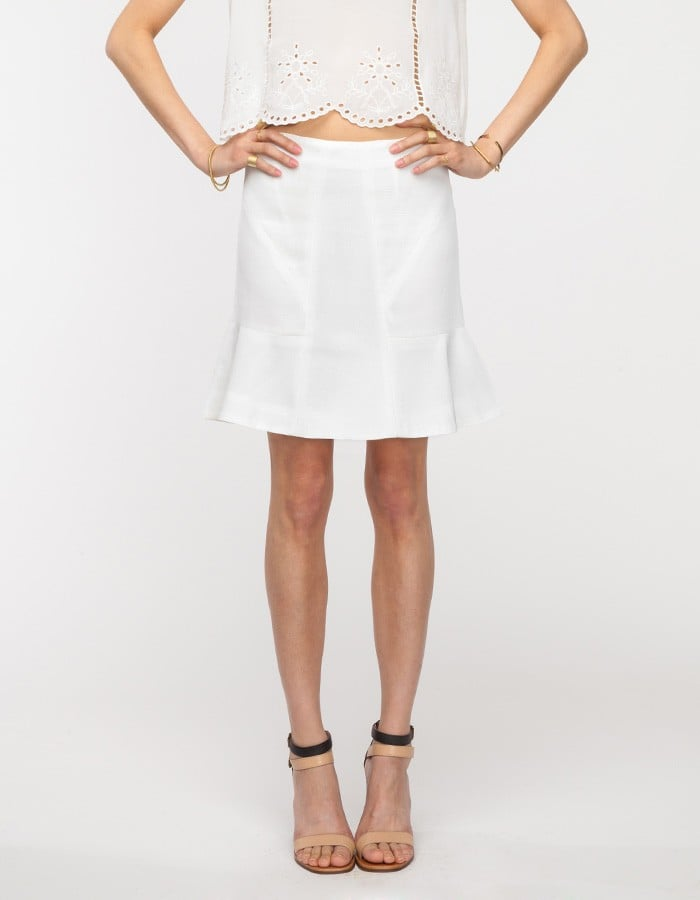 Wear white into Fall! Pair this chic Need Supply Co. skirt ($40, originally $68) with something tailored up top in a dark color.