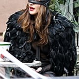 Liv Tyler was spotted working a lot of feathers.