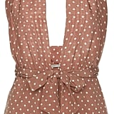 Alessandra Rich Lounge By The Pool Polka Dot Playsuit