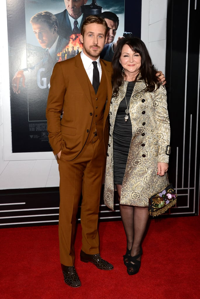 Ryan Gosling posed with his mum, Donna.
