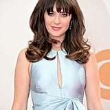 Zooey Deschanel is known for her retro style, and for the 2013 Emmys she pulled from the 1960s bouffant era. To complete her throwback look, she accentuated her nails with a checkered design.