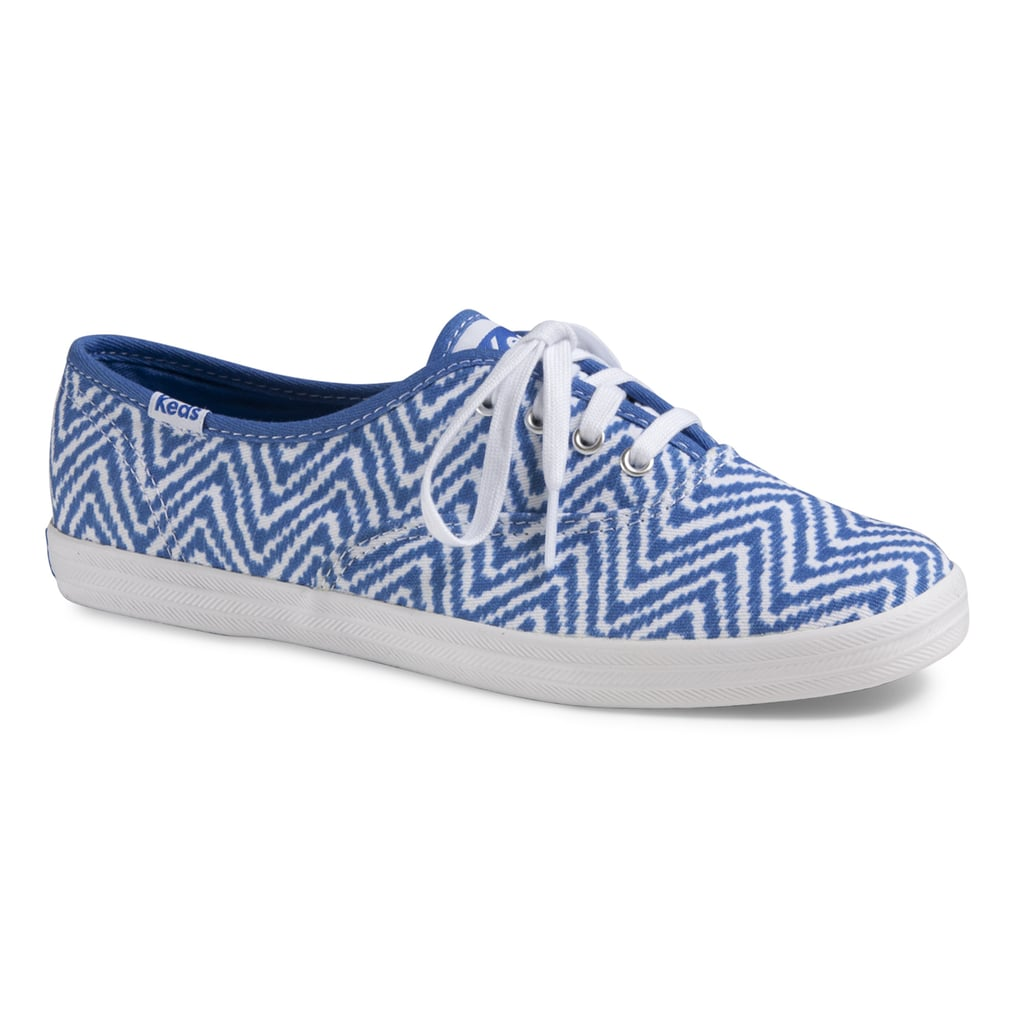 If you haven't set foot in a Hollister in years, now might be the time to reconsider. The mall staple has partnered with Keds on a line of simple lace-ups that are too cute to ignore. There's a heart pair, but we're especially partial to this zigzag style ($45).  — LM