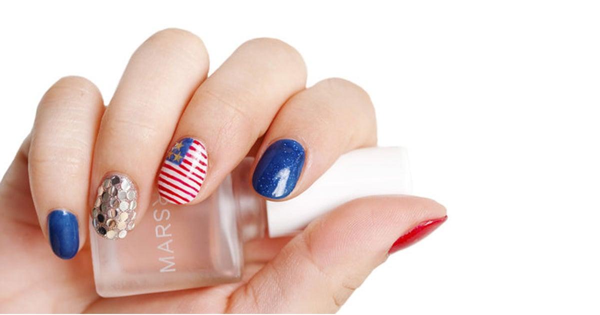 DIY This Festive Fourth of July Nail Art Design