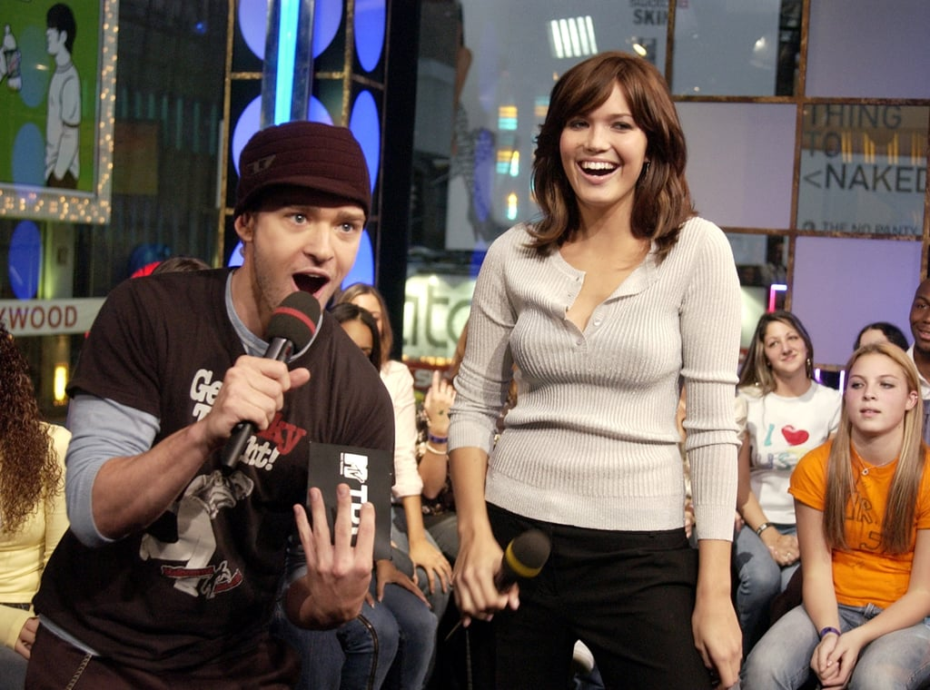 He joked around with Mandy Moore on an episode of TRL in October 2003.