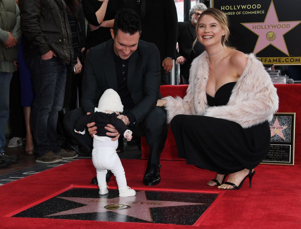 Adam Levine and Baby Dusty at Hollywood Walk of Fame 2017 ...