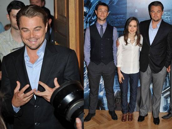 Leonardo DiCaprio, Ellen Page, and Joseph Gordon-Levitt at a London Photo Call For Inception 2010-07-07 19:30:32