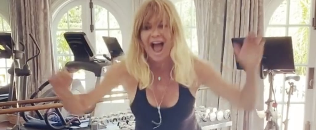 "Watch Goldie Hawn Energetically Work Out to ""Physical"""