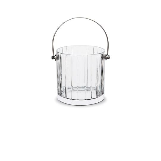 Soirees come and go, but crystal barware is forever. With its vertical stripes and stainless steel handle, the Baccarat Harmonie Ice Bucket ($675) is both sophisticated and utilitarian. 