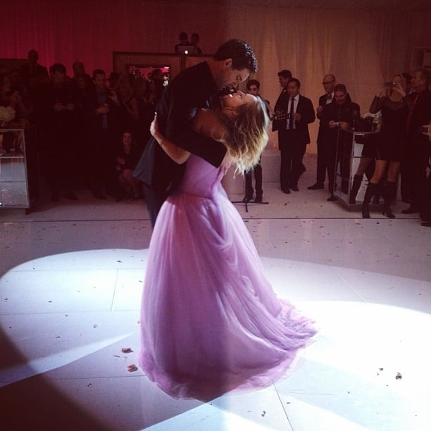 kaley cuoco and ryan sweeting danced after saying i do source instagram