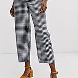 ASOS Design Maternity Casual Gingham Straight Leg Pants