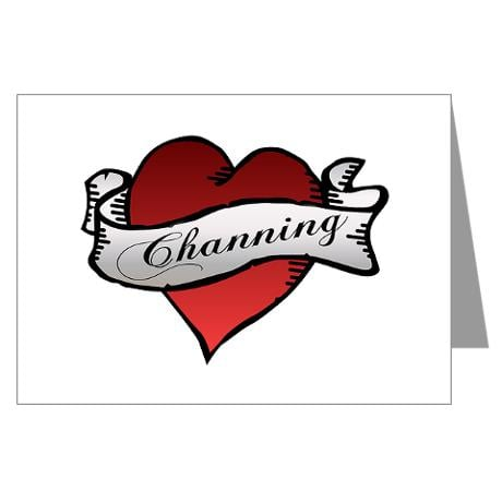 Channing Tattoo Heart Greeting Cards ($18)