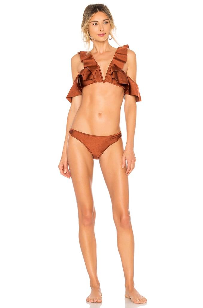 Zimmermann Tali Flutter Bikini Set in Bronze