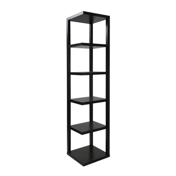 Acme Furniture Cappuccino Wood 5-shelf Corner Bookcase