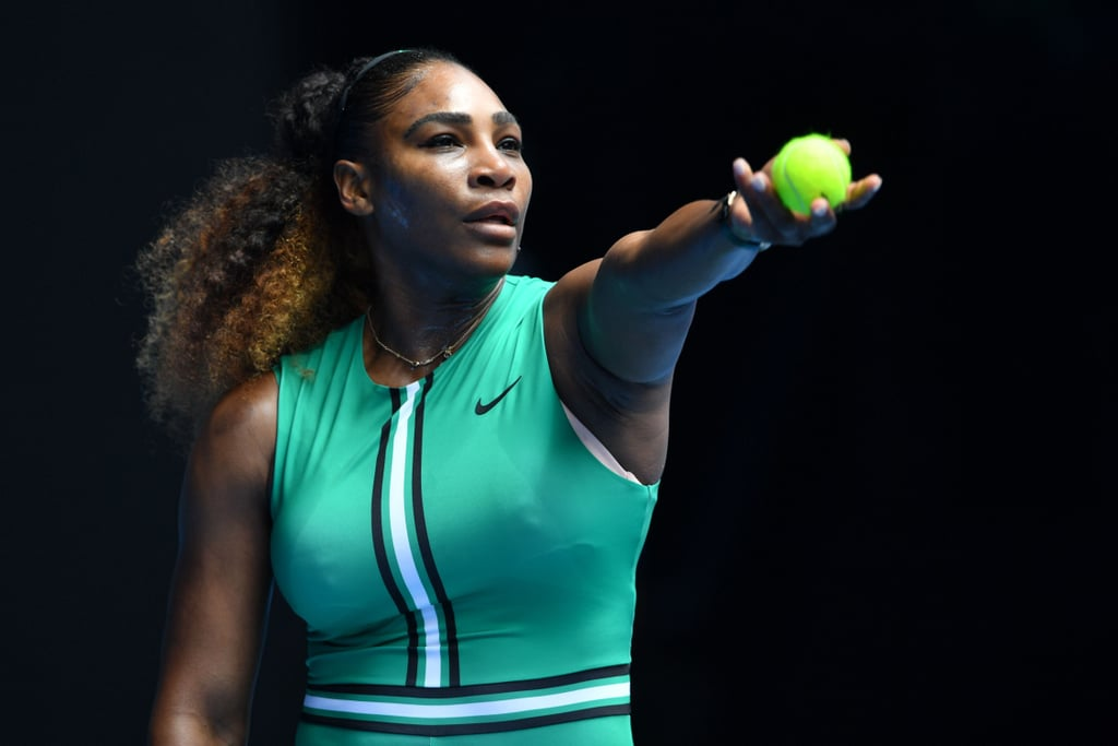 c1a5464ecd64 Serena Williams's Green Bodysuit at the Australian Open 2019. RIP to the Tennis  Court ...