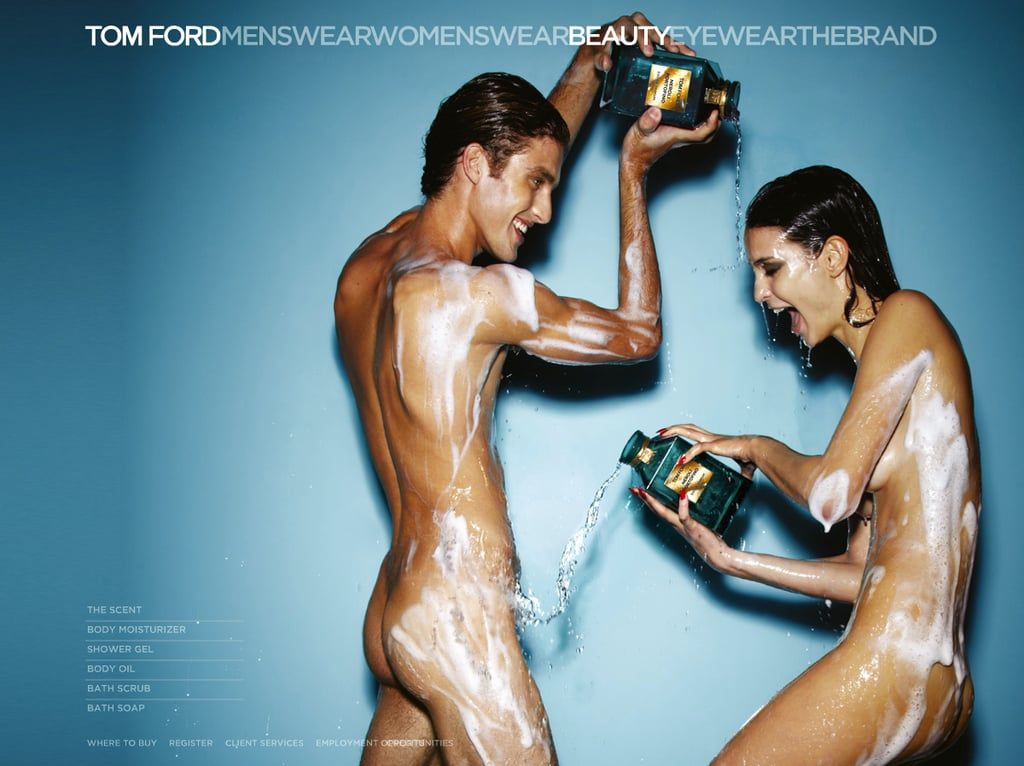 >> Tom Ford beauty campaigns are anything but modest (links are NSFW), and the new set for his just-launched Neroli Portofino line live up to expectation. Ford shot a male and female model (the latter, Mariana Braga) a  year ago, enacting a shower scene for the just-released campaign.