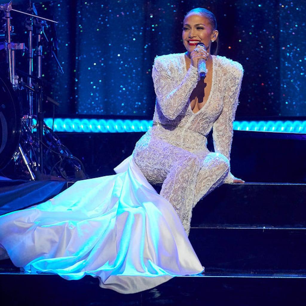 d5a20c291bf0 Jennifer Lopez Galia Lahav Jumpsuit on New Year s Eve